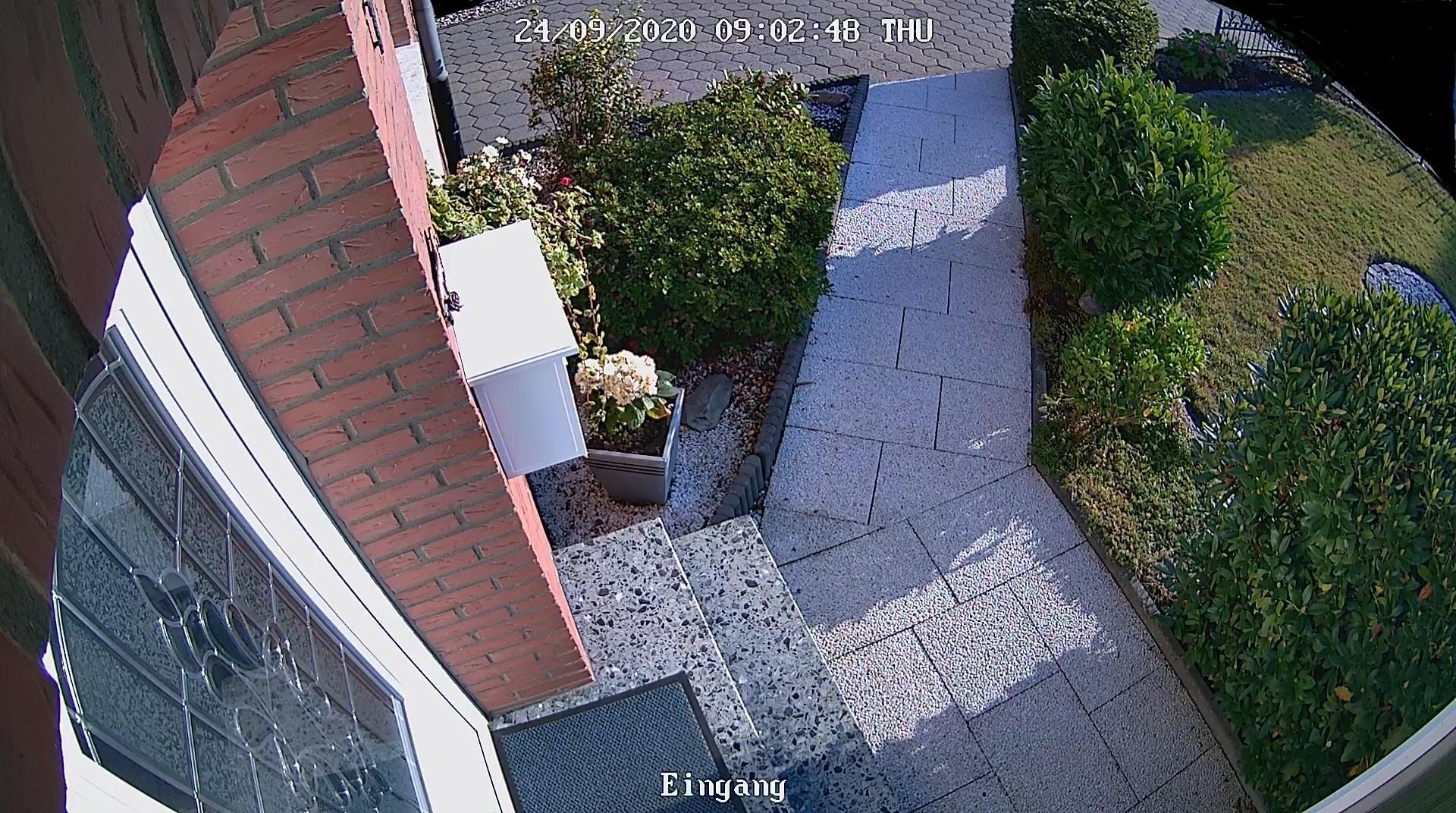 Video Überwachung des Eingangsbereichs